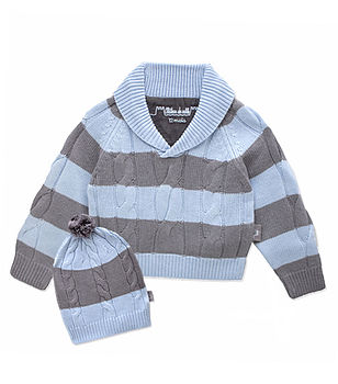 Cashmere Knit Boys Jumper And Hat