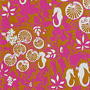 Seahorses And Lilly Pads Print Brown