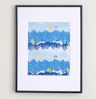 Snowpeaks And Stags Print