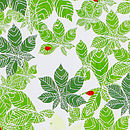 Ladybirds And Leaves Print