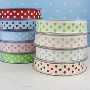 Spotty Grosgrain Ribbon - home