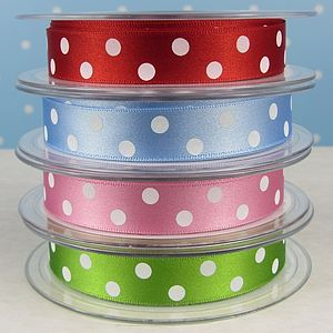 Satin Spotty Polka Dots Ribbon - cards & wrap