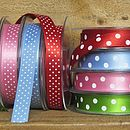 satin micro spot and polka dot ribbon