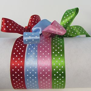 Spotty Satin Micro Dot Ribbon - christmas ribbon