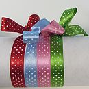 Spotty Satin Micro Dot Ribbon