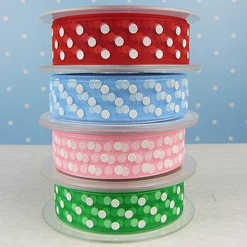Spotty Sheer Ribbon