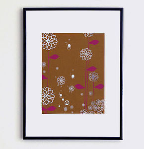 Stardust Print Brown - nature & landscape