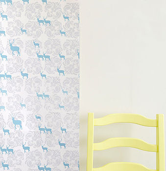 Deer And Damask Wallpaper