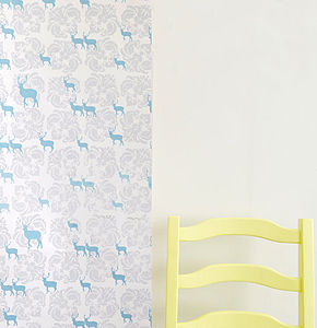 Deer And Damask Wallpaper - children's room