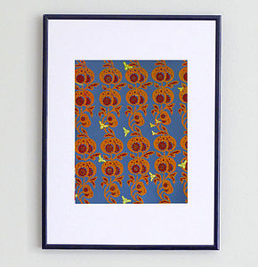 Poppy Seeds And Bumblebees Print - posters & prints