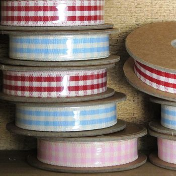 Rustic Gingham Ribbon