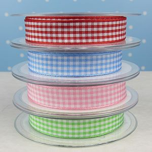 Traditional Gingham Ribbon - finishing touches