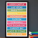 Personalised Destination Print - Neon