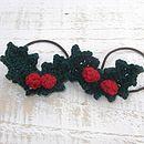Hand Crocheted Flower Hair Ties