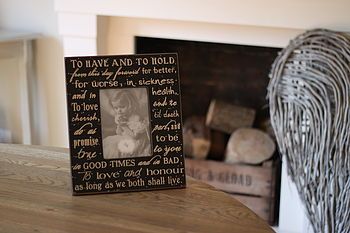 'To have and to hold' Photo Frame