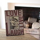 'Love Live Laugh' Frame