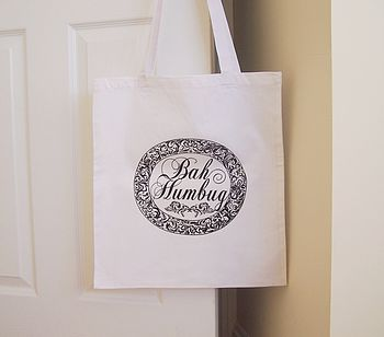 'Bah Humbug' Christmas Tote Bag