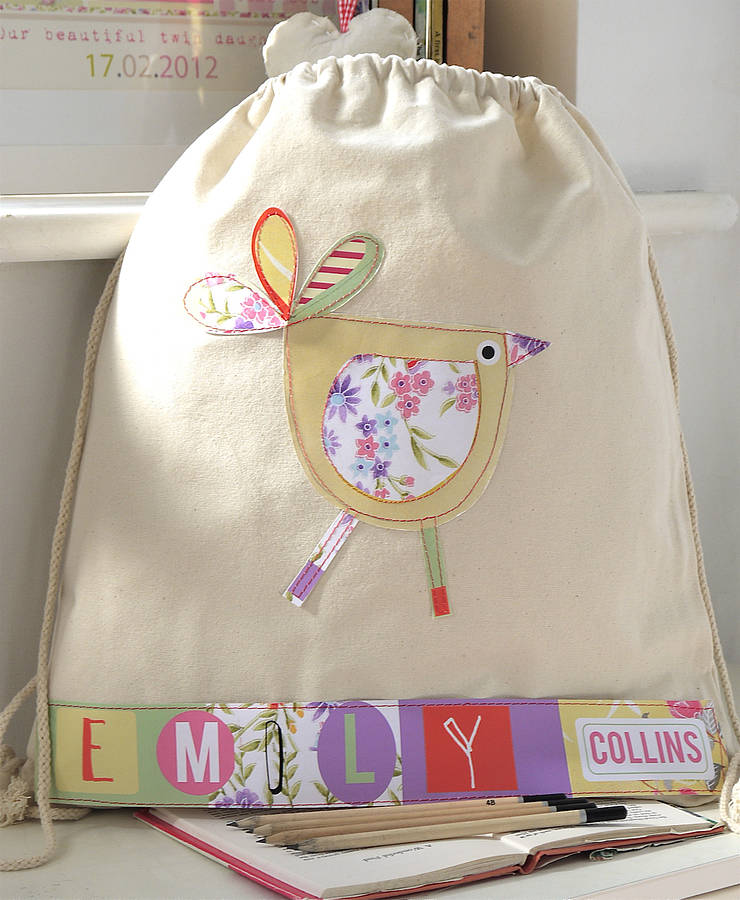 personalised bird nursery bag by constantine jo ...