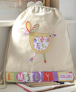 Personalised Girl's Bird Nursery Bag - shop by price