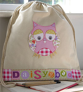 Personalised Owl Bag - baby's room