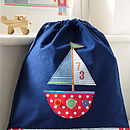 Sailing boat bag design