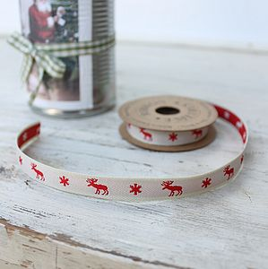 Reindeer Ribbon 3m - cards & wrap