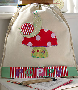 Girl's Personalised Snail Nursery Bag - baby & child