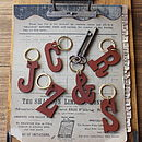 Leather Letter Key Ring