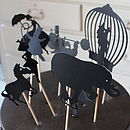 Set Of 11 Circus Shadow Figures