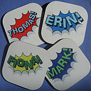 Personalised Superhero Drinks Coaster