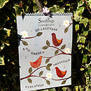 2013 Calendar With Seeds