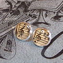 Round treble clef cufflinks