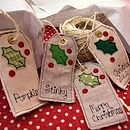 Double Sided Christmas Tags