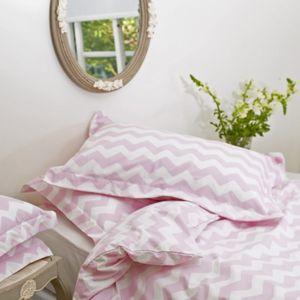 Zig Zag Bedlinen: Pillowcases - soft colour pop