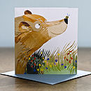 Bear And Bee Greetings Card