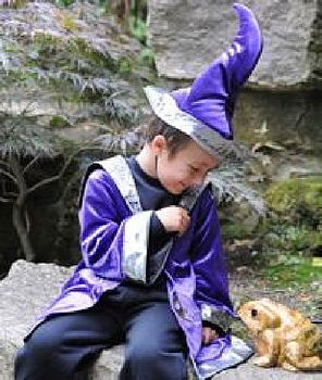 Halloween Wizard Costume And Hat