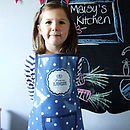 Navy Princess apron
