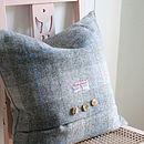 Dove Dawn Harris Tweed Cushion
