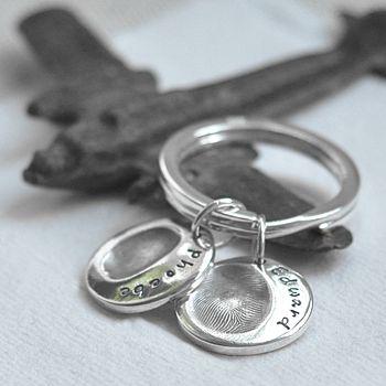 Personalised Fingerprint Charm Keyring