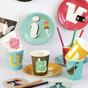 Alphabet Paper Plates And Cups