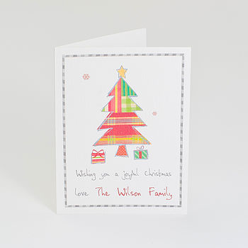 Pack Of Personalised Christmas Tree Cards