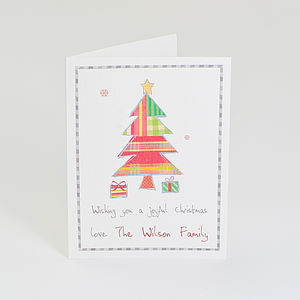Pack Of Personalised Christmas Tree Cards - cards & wrap