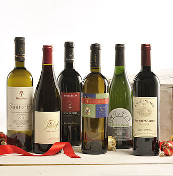 Christmas Supper Party Wine Case - photo for illustration purposes only, actual wines will differ