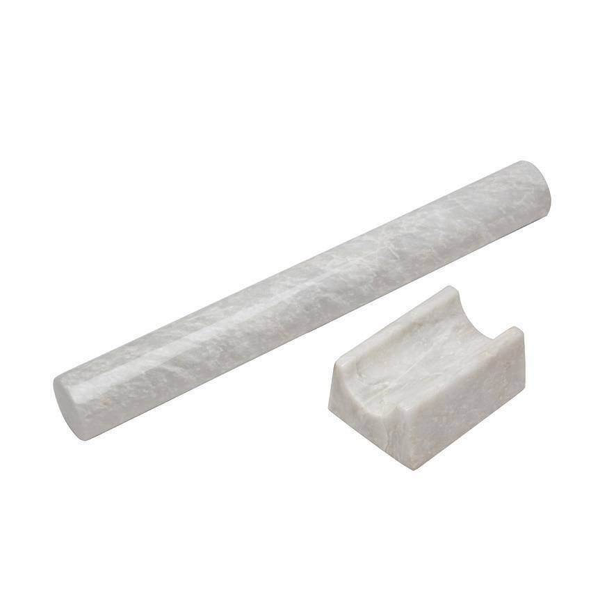 Hand Crafted Marble Rolling Pin Dark Or Light Colour By