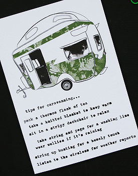 'Tips For Caravanning' Card