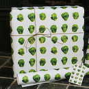 Brussels Sprout Wrapping Paper