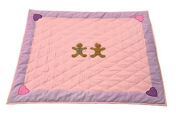Lilac Gingerbread Children's Floor Quilt