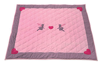 Pink Fairy Children's Floor Quilt