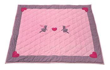 Pink Fairy Children's Floor Quilt