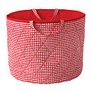 Red Gingham Toy Storage Basket